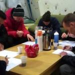 Kurset slutter af med en lille skriftlig eksamen - alle bestod med bravour